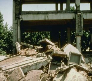 Earthquakes in Tangshan 1976, China
